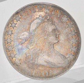 1805 Bust Heraldic Half Dollar Fine+.