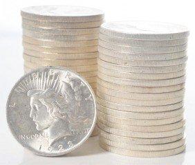 Lot Of 2: 1923 Peace Dollar Rolls.