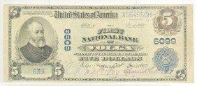 $5 US Note 1902 Volga South Dakota Charter 6099.