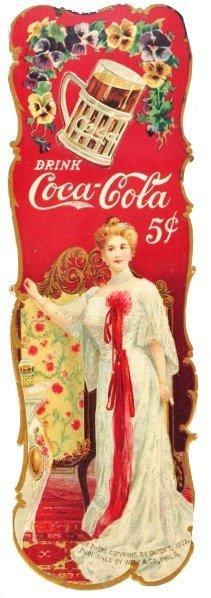 Cardboard Coca-Cola Bookmark.