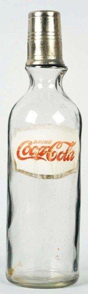 Coca-Cola Foil Label Syrup Bottle.