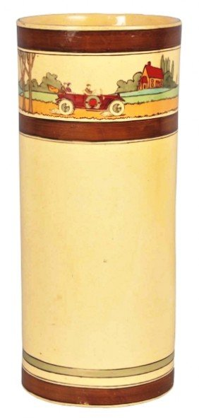 Roseville Pottery Touring Pattern Umbrella Stand.