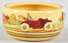 Roseville Touring Pattern Pottery Bowl.