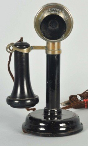American Electric Manual Candlestick Telephone.