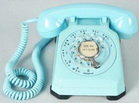 Blue Stromberg Carlson 1543 Cradle Telephone.
