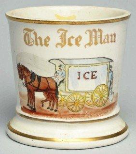 Horse-Drawn Ice Wagon Shaving Mug.
