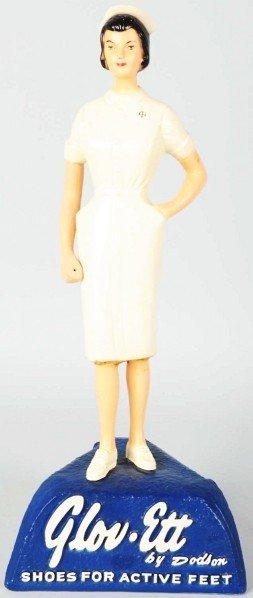 Hard Rubber Glov Ette Nurse Advertising Figure.
