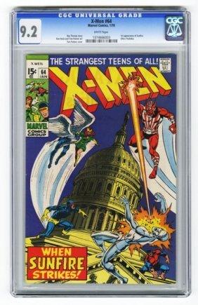 X-Men #64 CGC 9.2 Marvel Comics 1/70.