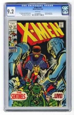 X-Men #57 CGC 9.2 Marvel Comics 6/69.