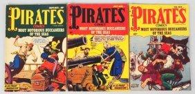 Lot Of 3: 1950 Pirate Comics.