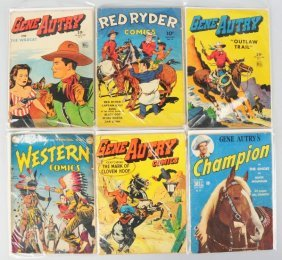 Lot Of 6: 1950s Gene Autry Comic Books.