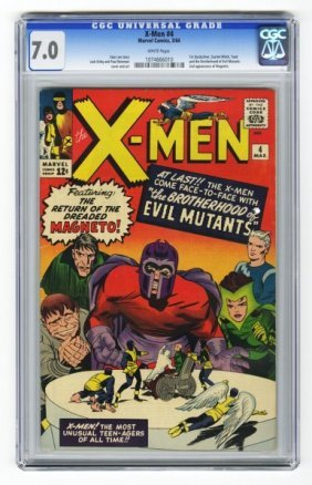 X-Men #4 CGC 7.0 Marvel Comics 3/64.