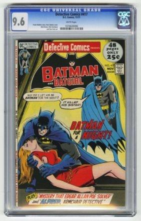 Detective Comics #417 CGC 9.6 D.C. Comics 11/71.