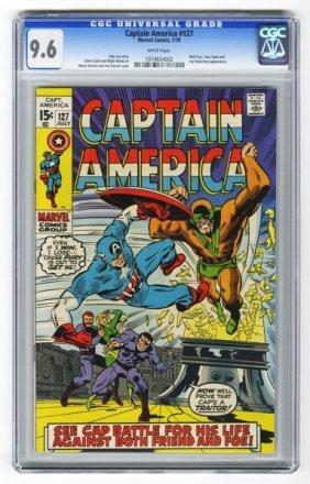 Captain America #127 CGC 9.6 Marvel Comics 7/70.