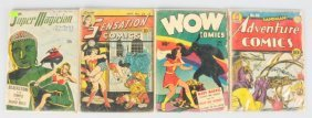 Lot Of 4: Golden Age Comic Books.