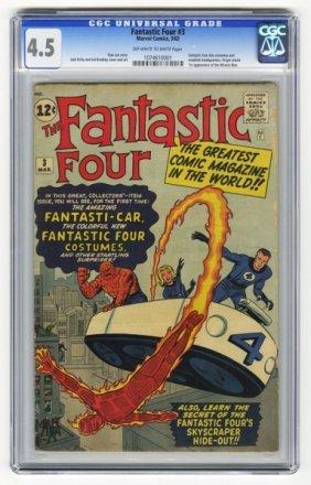 Fantastic Four #3 CGC 4.5 Marvel Comics 3/62.