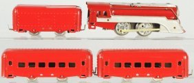 Tin Litho Hafner Wind-Up Passenger Train Set.