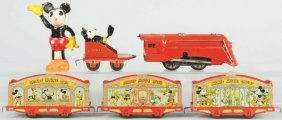 Tin Walt Disney Lionel Wind-Up Circus Train Set.