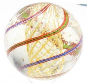 Bicolor Latticino Swirl Marble.