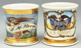 Lot Of 2: Eagle Shaving Mugs.