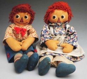 Pair Of Molly-�es �Raggedy Ann & Andy� Dolls.
