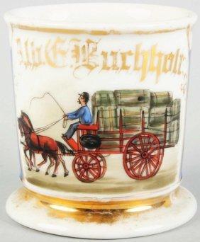 Horse-Drawn Delivery Wagon Shaving Mug.
