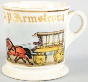 Horse-Drawn Livery Wagon Shaving Mug.