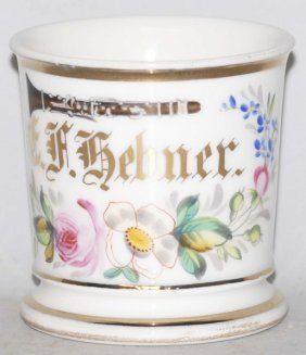 Clarinet Player Floral Shaving Mug.
