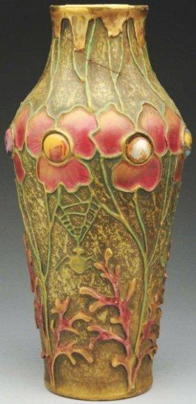 Amphora Jeweled Ceramic Vase.