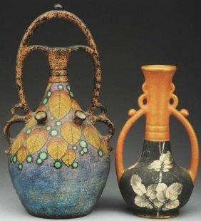 Lot Of 2: Amphora Tulip Vases.