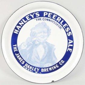 Hanley's Peerless Ale Porcelain Tray.