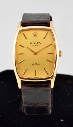 Rolex Cellini 18k Gold Watch.
