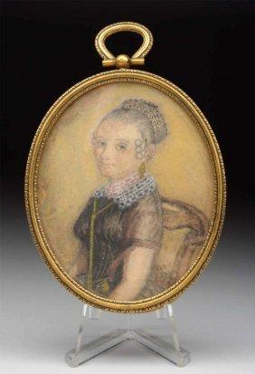 Miniature Portrait Of Lady.