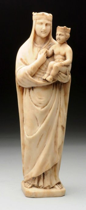Early 19th Century Marble Carved Madonna