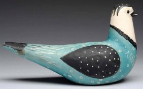 Waylande Gregory Pottery Turquoise & Black Dove.
