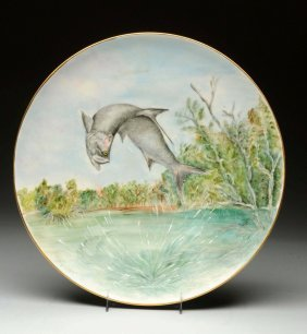 Hand Painted Porcelain Charger.