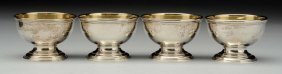 Set Of Four Tiffany Sterling Salts.
