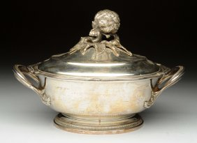 A Puiforcat Silver Covered Dish.