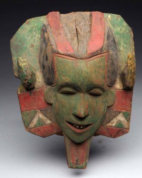 Early Wooden Tribal Mask.