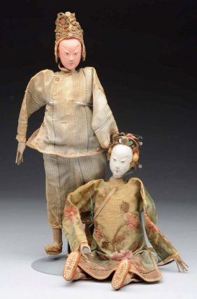 Lot Of 2: Early Japanese Dolls.