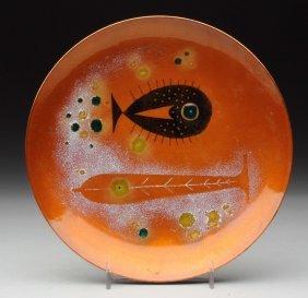 Elizabeth Madley American Enamel Dish.