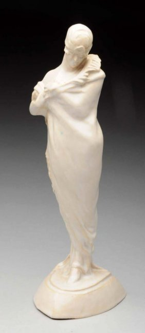 American Art Deco Pottery Sculpture Of Lady.