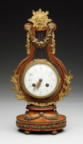 Late 19th Century English Burle Wood Clock.