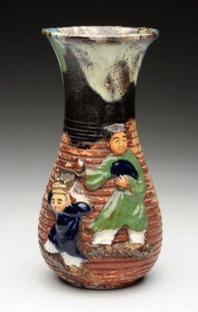 Japanese Sumida Gawa Pottery Vase.