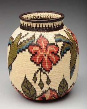 Native American Indian Woven Basket.