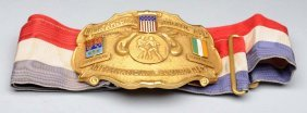 Irish - American Championship Boxing Belt.