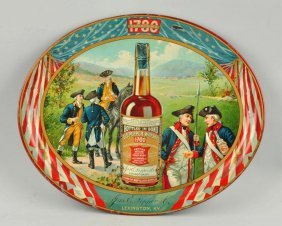 Old Pepper Whiskey Tin Litho Tray.