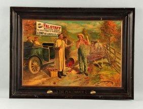 Falstaff Beer Tin Litho Advertising Sign.