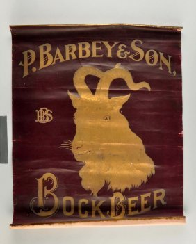 P. Barbey & Son Bock Beer Advertising Poster.