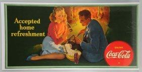 1942 Large Coca-cola Poster.